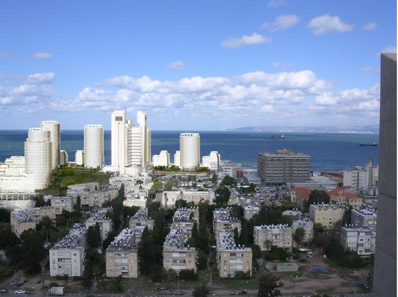 """הדמיה - שכונה חדשה שתקום במקום בה""""ד חיל הים בחיפה"""