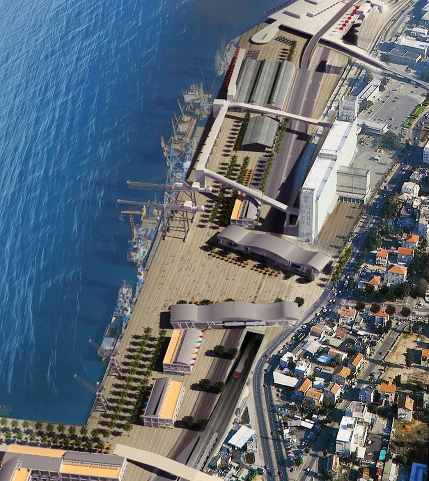 חזית הים העירונית של חיפה (הדמיה באדיבות עיריית חיפה - 2017)