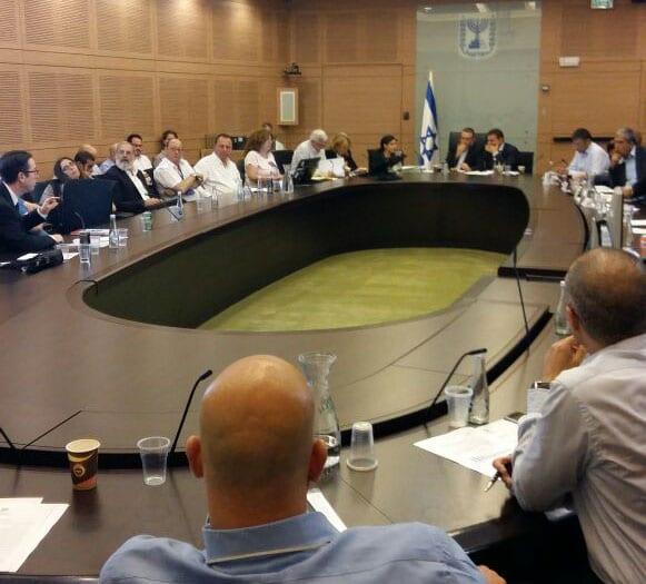 ועדת הכספים של הכנסת (צילום: ירון חנן)