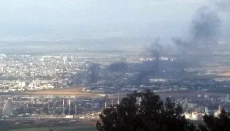 שרפה במפרץ חיפה. צילום – קורא חי פה