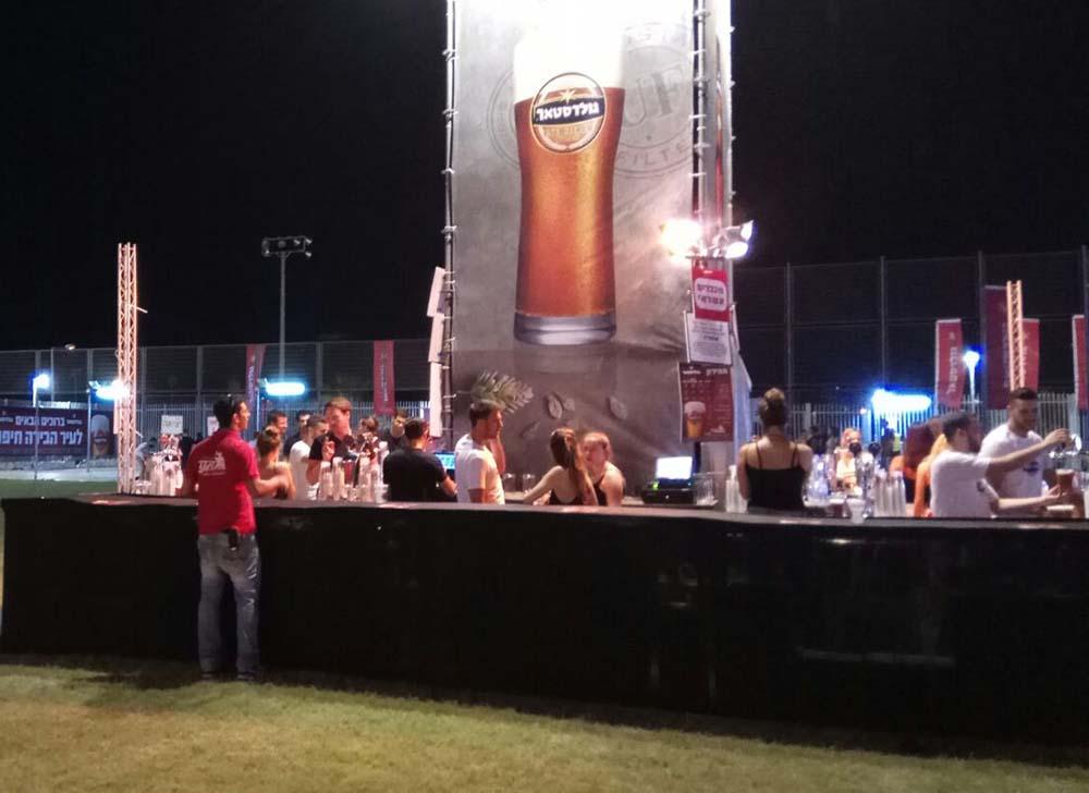 דוכן משקאות בפסטיבל עיר הבירה (צילום - חגית אברהם)