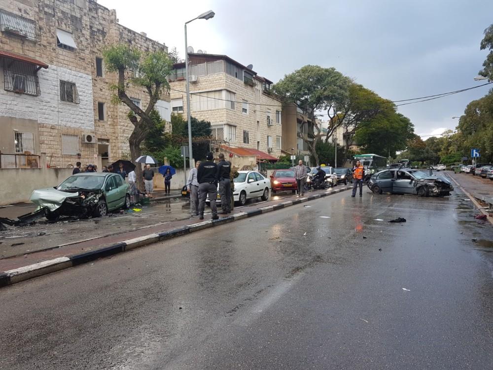 תאונה: תאונה ברחוב אלנבי בחיפה (צילום: איחוד הצלה)