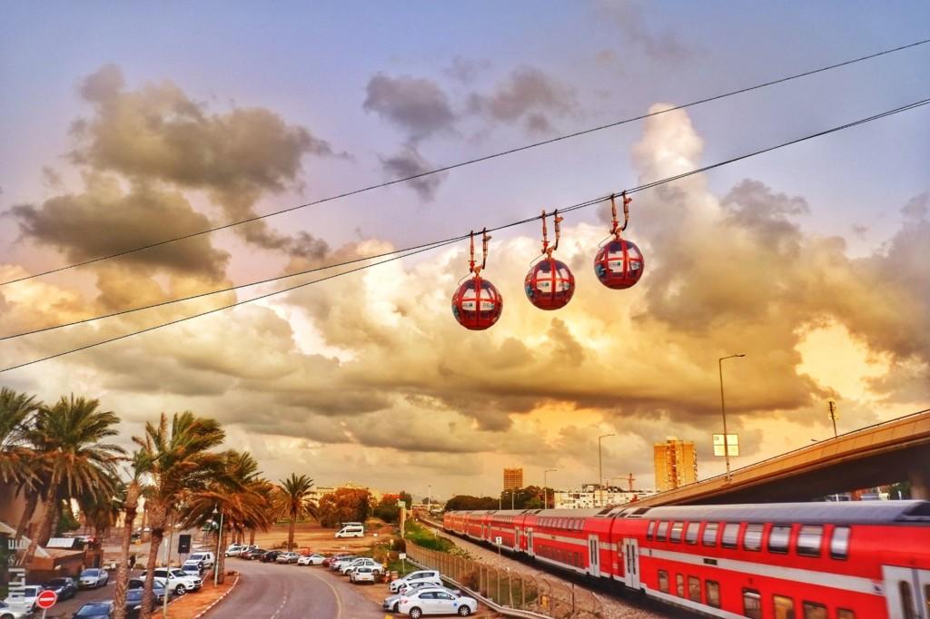 רכבל חיפה (צילום: גלעד שטיין)