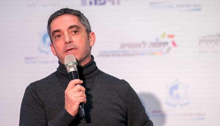 איציק פריד בכנס יוזמה לאומית עם אראל מרגלית – חיפה (צילום – ירון כרמי)