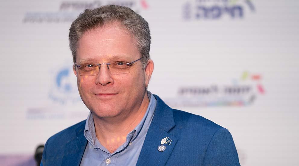 ארז ישכרוב, נשיא תילתן חיפה (צילום: ירון כרמי)
