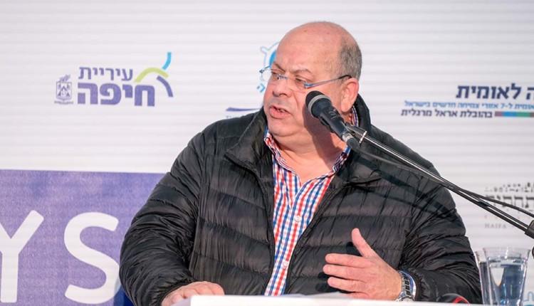 גדי מרגלית בכנס יוזמה לאומית בחיפה עם אראל מרגלית (צילום – ירון כרמי)