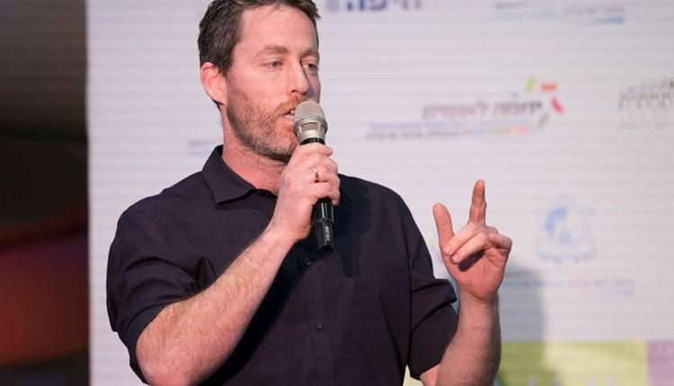 ניר גרטצמן בכנס יוזמה לאומית עם אראל מרגלית – חיפה (צילום – ירון כרמי)