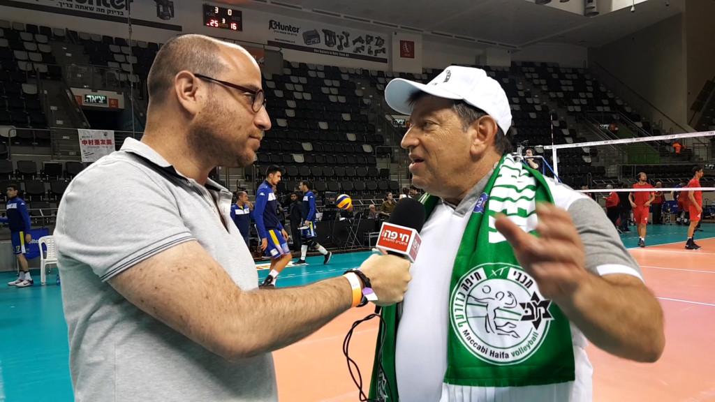 """חיים קסל - יו""""ר מכבי חיפה בכדורעף נשים בריאיון לבן סער"""