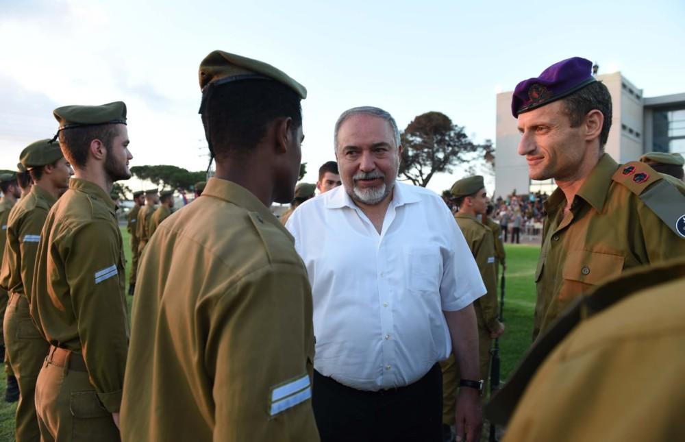 """סיום מחזור ס""""ד בפנימייה הצבאית בחיפה (צילום - דוברות משרד הביטחון)"""