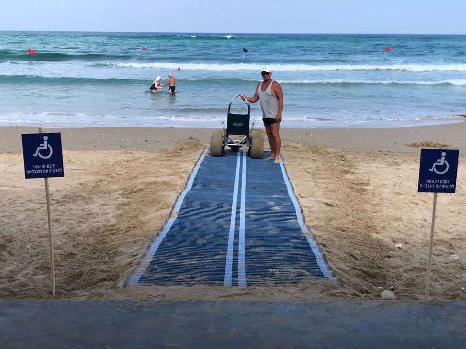 משטח נגישות לים (צילום: ירון כרמי)