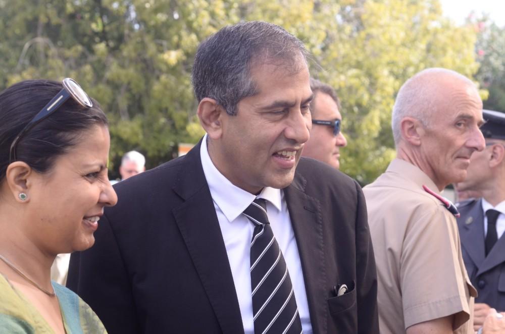 שגריר הודו בישראל ורעייתו בטקס בחיפה (צילום: חגית אברהם: סטודיו כחול)