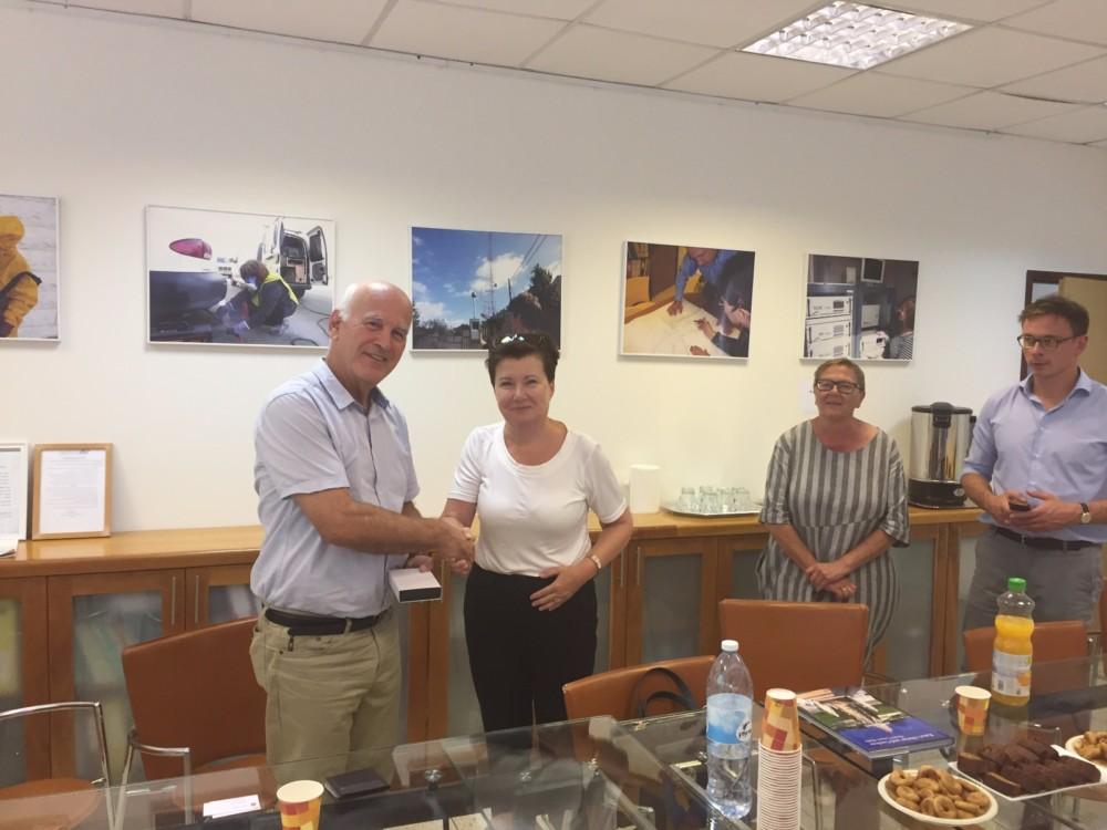 ראשת העיר וארשה הגיעה לביקור באיגוד ערים להגנת הסביבה מפרץ חיפה (צילום: איגוד ערים)