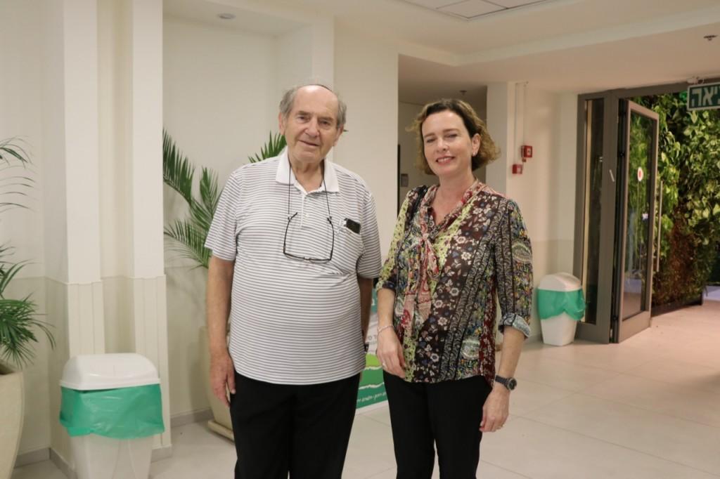 עינת קליש ופרופ' טלר באקדמיה גורדון(צילום: נורית ברזילי)