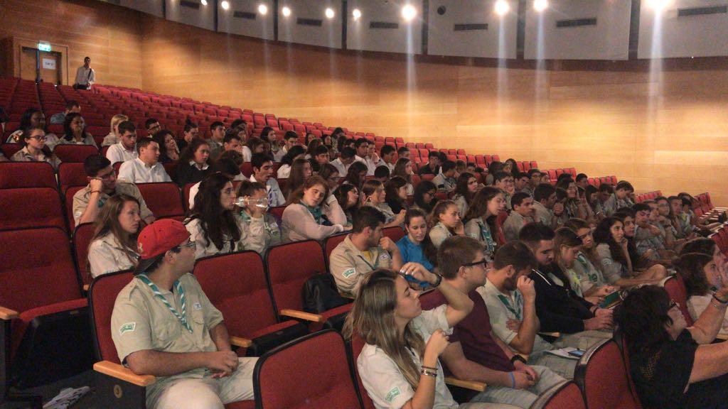 הנהגת תנועת הצופים בחיפה באולם בבית בירת - פאנל מתמודדים לראשות העיר - 10/10/2018 (צילום: מיכל ירון)