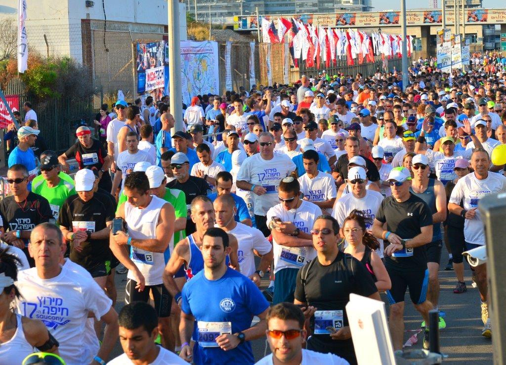 מרוץ חצי מרתוןSAUCONY חיפה (צילום: דוברות עיריית חיפה)
