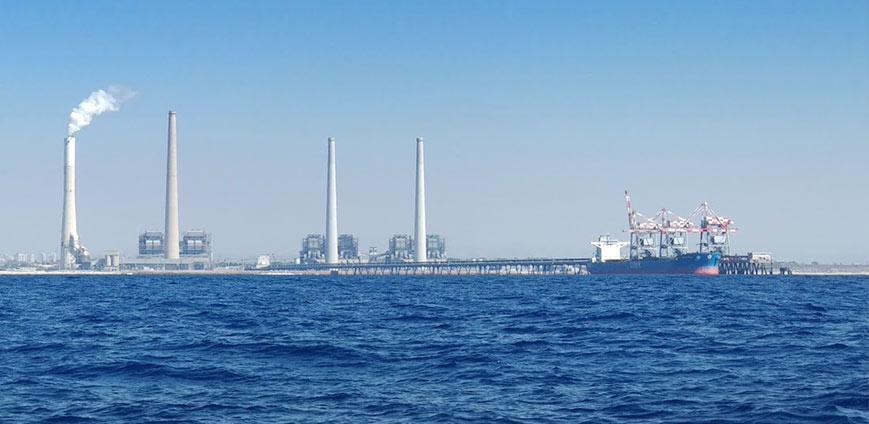 בדרך לתל אביב עוברים בחדרה - תחנת הכוח - שיוט הערים ה-62 (צילום: קהילת שייטי הכרמל)