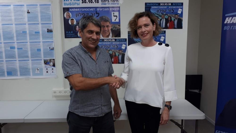 """קליש וקפלון - ישראל ביתנו חתמה על הסכם עם סיעת """"חיים בחיפה"""""""