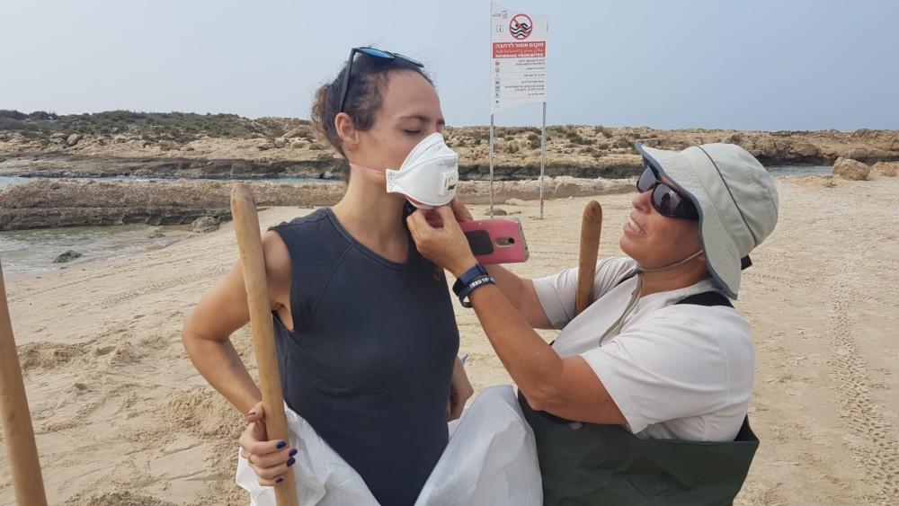 תרגיל היערכות לטיפול בזיהום ים 14/11/2018 (צילום: אילן מלסטר המשרד להגנת הסביבה)