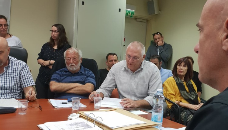 דיון בועדה המחוזית לתכנון ובניה בחיפה בנוגע לתכניות נמל המפרץ - 05/11/2018 (צילום: דודי מיבלום)