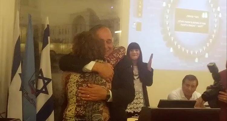 יונה יהב נפרד ממועצת העיר ומברך את עינת קליש רותם 06/11/2018 (צילום: סמר עודה)