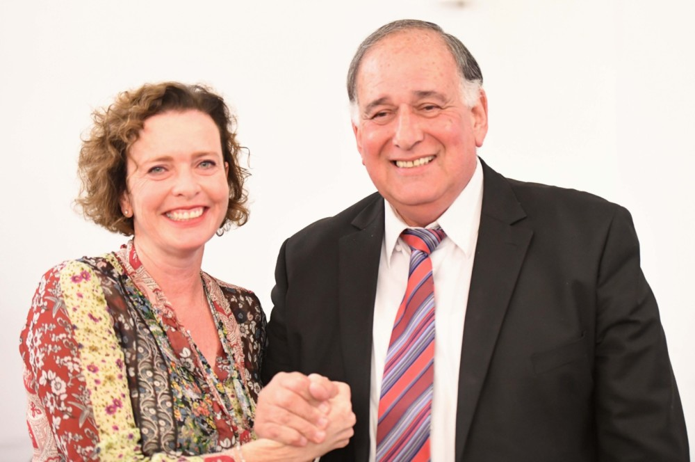 יונה יהב ועינת קליש - ישיבת מועצת עיר אחרונה של קדנציית יהב 06/11/2018 (צילום: ראובן כהן)