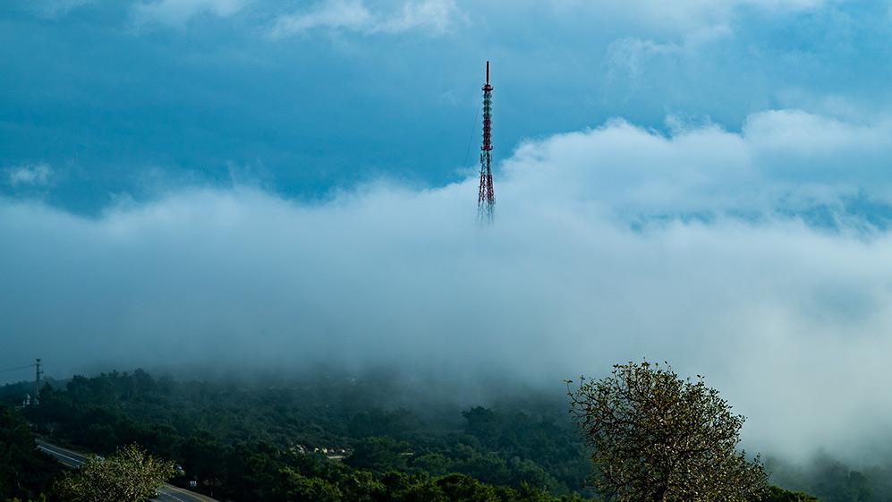 ענן על הכרמל (צילום: ירון כרמי)
