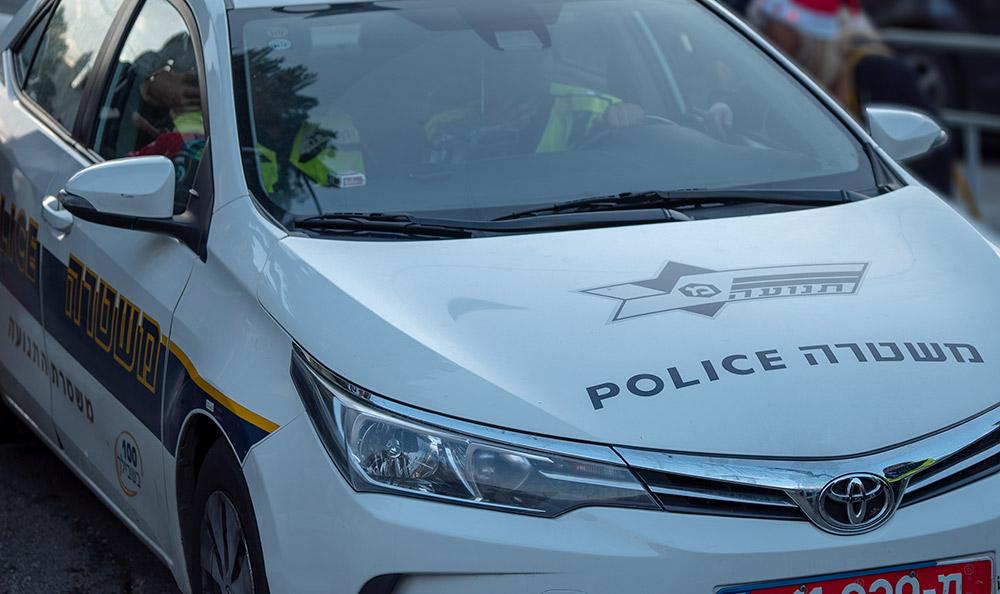 ניידת משטרה - משטרת התנועה (צילום: ירון כרמי)