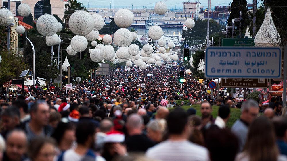 המושבה הגרמנית גדושה במאה אלף איש - החג של החגים - 22/12/2018 (צילום: ירון כרמי)