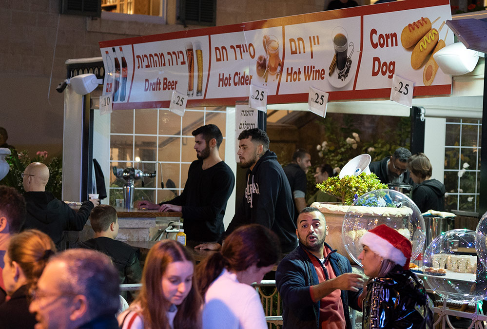 דוכן מזון מהיר - החג של החגים - 22/12/2018 (צילום: ירון כרמי)