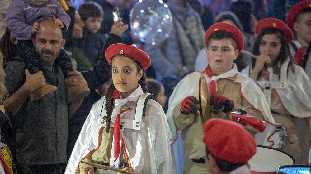 הצופים באיה בתהלוכה - החג של החגים - 22/12/2018 (צילום: ירון כרמי)