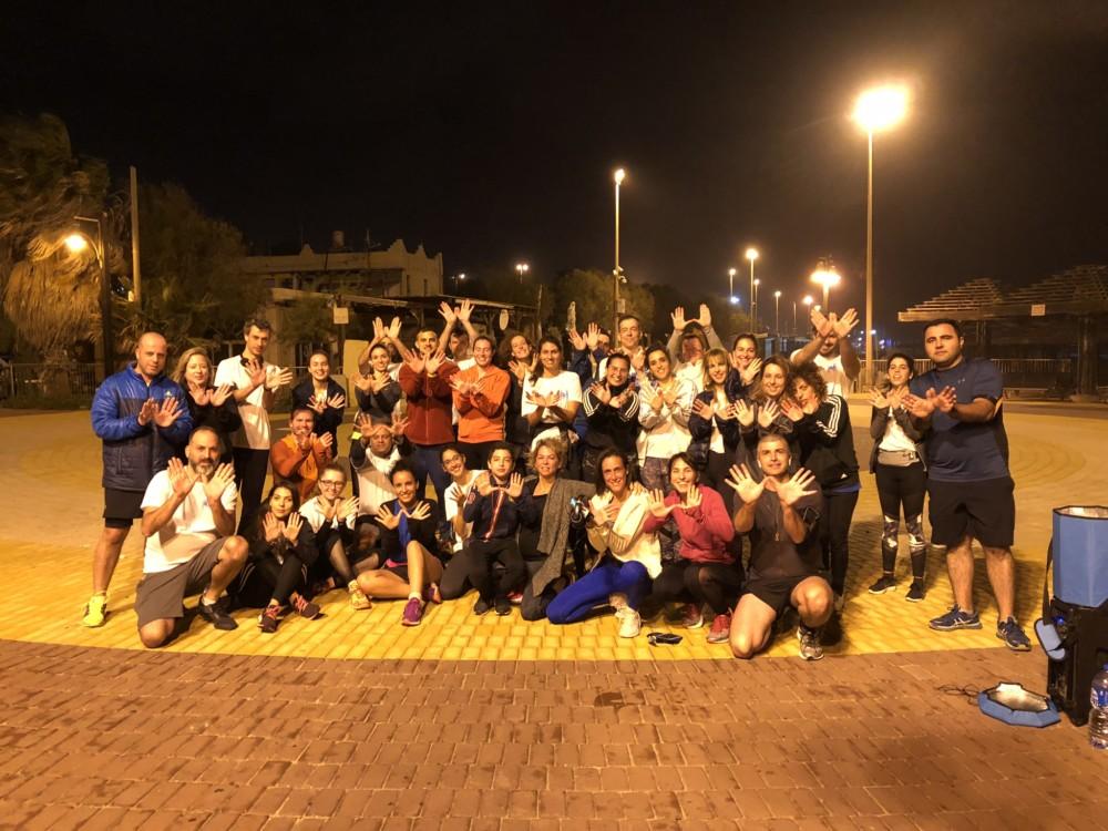 """מחזור 3 מסיימים את הריצה המסכמת של 10 קילומטרים - קבוצת הריצה """"תן לרוץ"""" בחיפה עם יונתן זוהר (צילום: ירון כרמי)"""