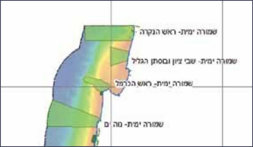 תכנית השמורה המקורית (מתוך מסמך האב לשמורות ימיות - רשות הטבע והגנים)