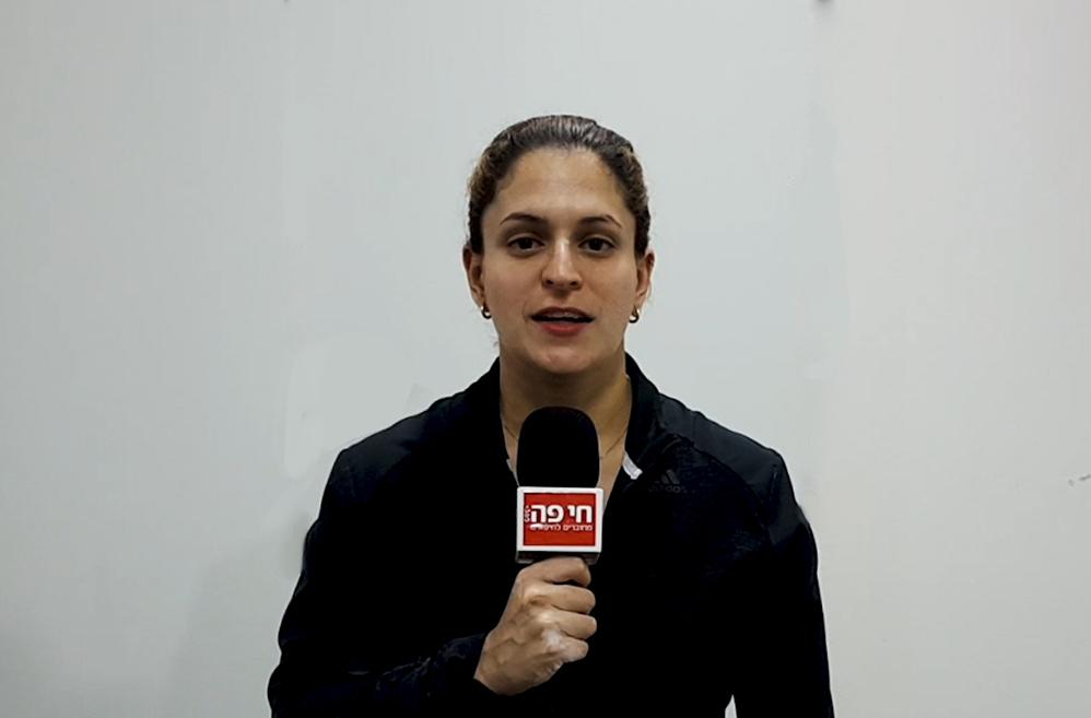 טלי ליאק - מאמנת מכבי חיפה כרמל בהתעמלות בראיון לחי פה (צילום: בן סער)