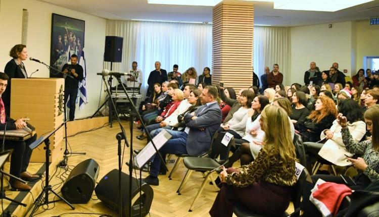 מפגש חגיגי  בעיריית חיפה  לרגל השנה האזרחית. (צילום: ראובן כהן – דוברות עיריית חיפה)