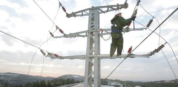 עמוד חשמל - תמונה להמחשה (צילום: יוסי וייס, דוברות חברת החשמל)