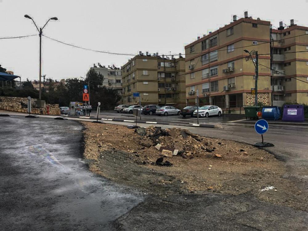 רחוב בר רב האי דוד בשפרינצק. (צילום: מיכל ירון)