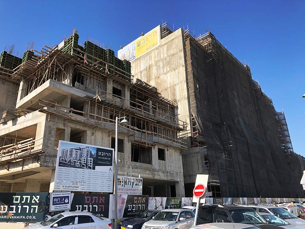 """בניה חדשה בחיפה - פרוייקט """"הרובע"""" בוואדי סליב (צילום: ירון כרמי)"""