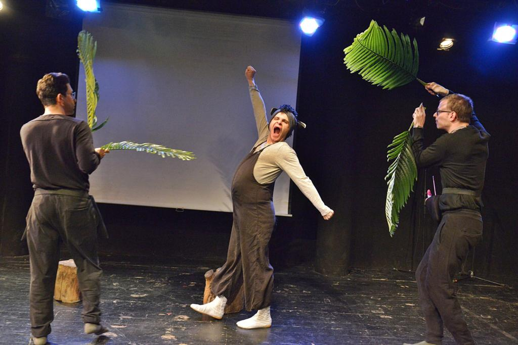 מתוך ההצגה: פומי - הטפיר שאיש לא מכיר (צילום: יואב איתיאל)