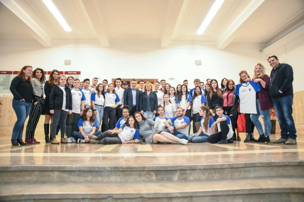 מועצת הנוער העירונית של חיפה (צילום: עדי אביקזר)