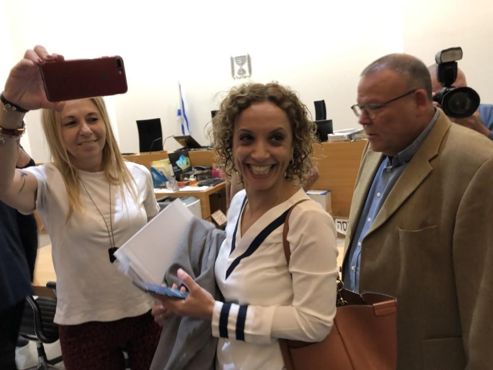 ימית קליין, ראש האגף המשפטי בעיריית חיפה בתחילת הדיון (צילום: ירון כרמי)