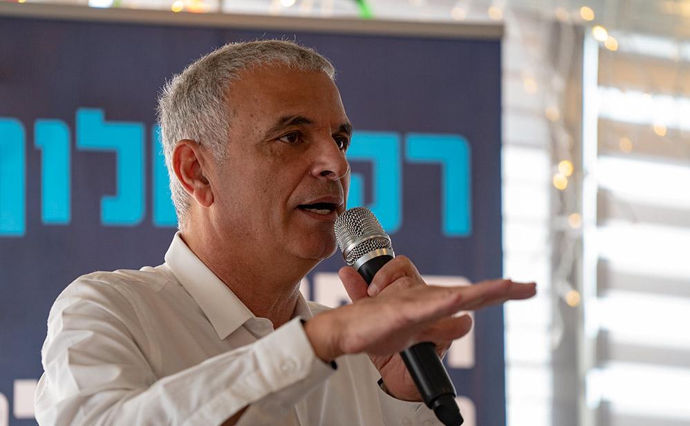 משה כחלון בכנס השקת קמפיין הבחירות של מפלגת כולנו בחיפה 01/02/2019 (צילום: ירון כרמי)