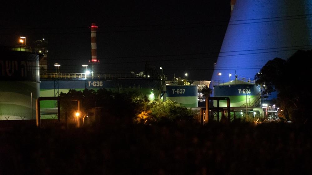 """בתי הזיקוק - בז""""ן - ההפגנה - תושבי חיפה סוגרים את התעשייה הפטרוכימית 4/2/2019"""