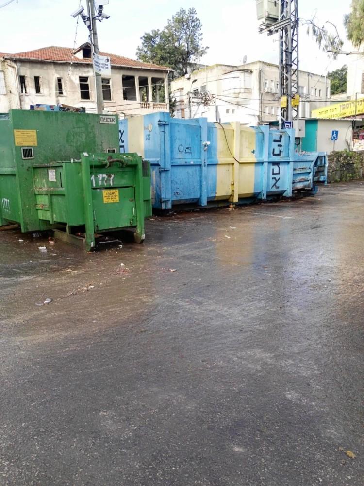 שוק תלפיות אחרי השביתה (צילום: וועד העובדים)