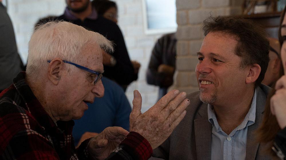 """ד""""ר יובל ארבל ודוד רטנר (צילום: ירון כרמי)"""
