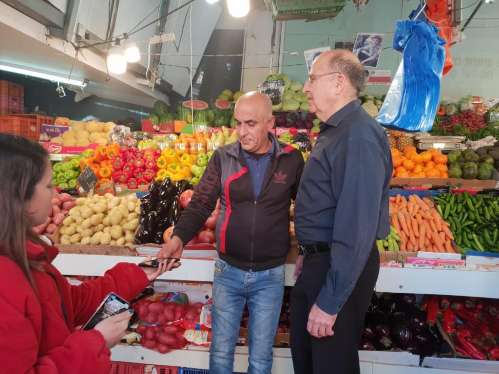 בוגי יעלון בסיור בשוק תלפיות בחיפה 20/02/19