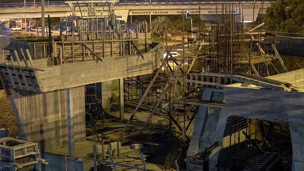 חדר המנועים של הרכבל אשר מוקם בצ'ק פוסט בצמוד למנהרות הכרמל (צילום: ירון כרמי)