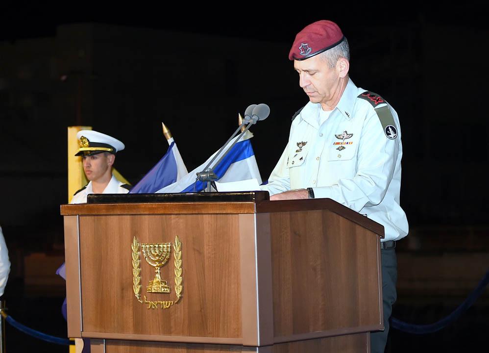 """הרמטכ""""ל אביב כוכבי בטקס סיום קורס חובלים בחיפה (צילום: ג'ו לוציאנו)"""