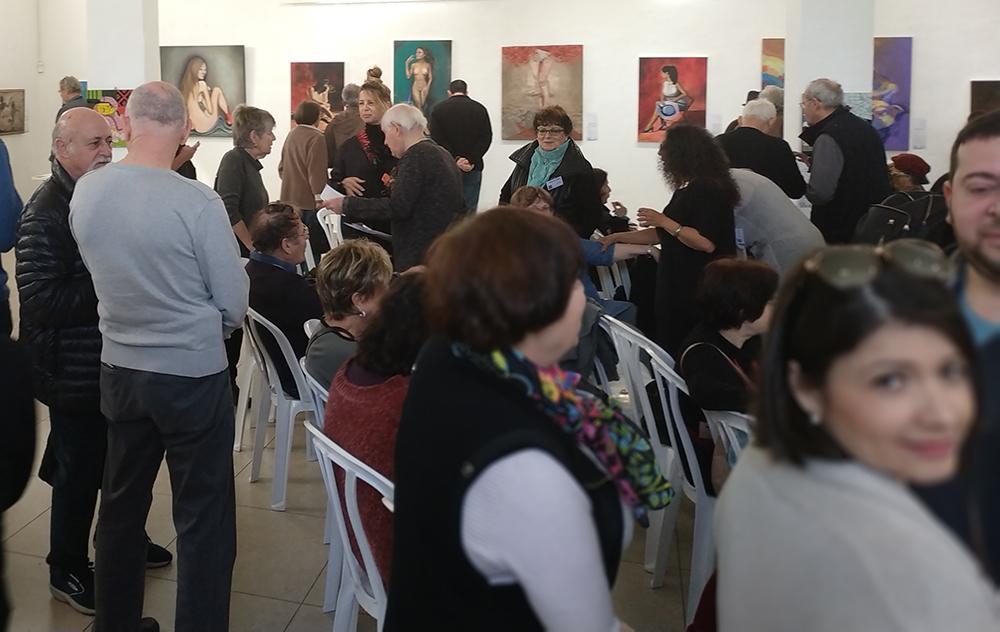תערוכה בהפקת ויטלינה מוחין בבית האומנים שאגאל בחיפה (צילום: ויטלינה מוחין)