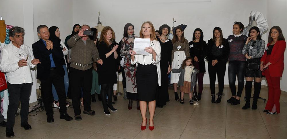ויטלינה מוחין מציגה תערוכה בהפקת בבית האומנים שאגאל בחיפה (צילום: אלבום אישי)