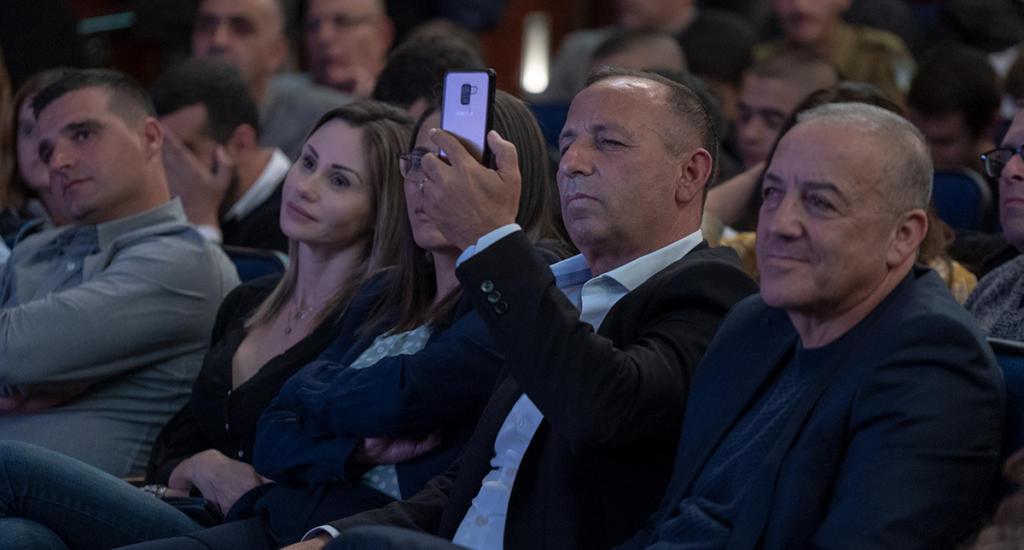אכרם חסון, צביק'ה ברבי, שרית גולן, סופי נקש ואלעד אטיאס (צילום: ירון כרמי)